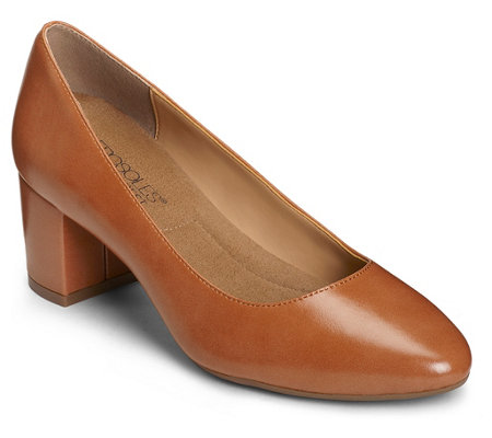 Aerosoles Mid Block Heel Slip-On Pumps - SilverMedal