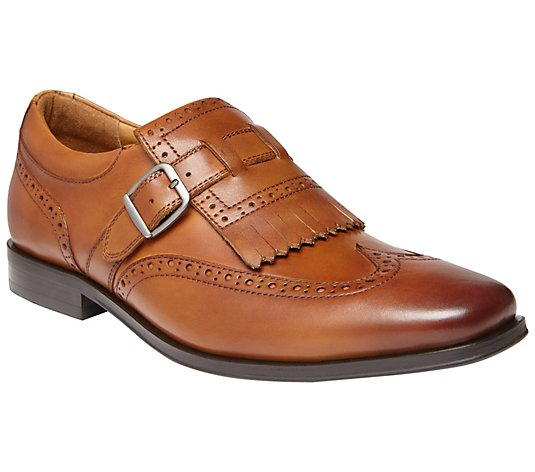Vionic Men's Leather Monk Strap Dress Shoes - Harrison