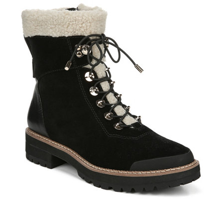 Franco Sarto Suede Lace-Up Booties - Rosella
