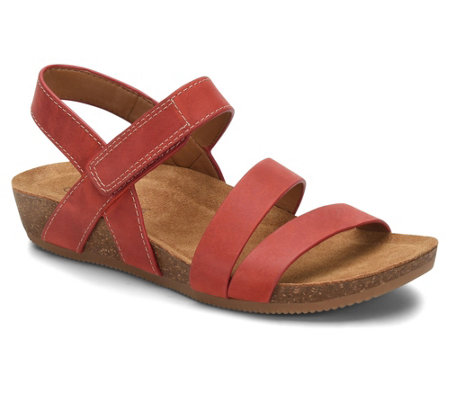 Comfortiva Strappy Leather Sandals - Gardena