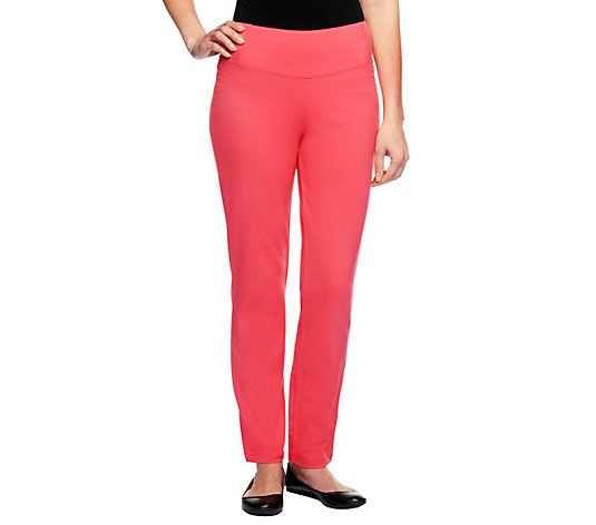 Women with Control Regular Slim Leg Ankle Pants w/ Waist Seams
