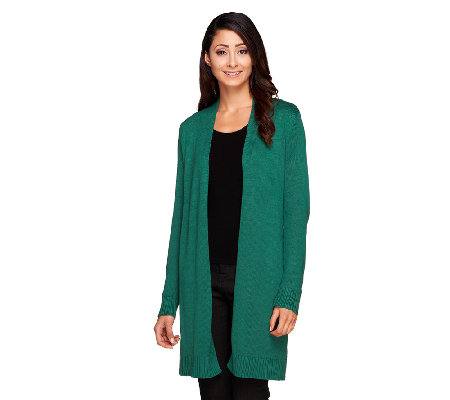 Isaac Mizrahi Live! Open Front Sweater Coat