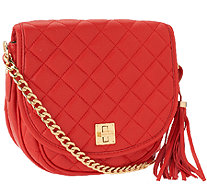 Isaac Mizrahi Live! Bridgehampton Quilted Lamb Leather Bag - A258771