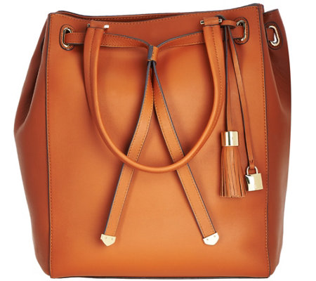 G.I.L.I. Smooth Leather Large Tote Bag