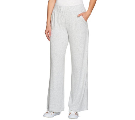 Isaac Mizrahi Live! SOHO Pull-on Wide Leg Knit Pants