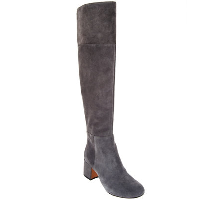 Clarks Somerset Suede Over the Knee Boots - Barley Ray