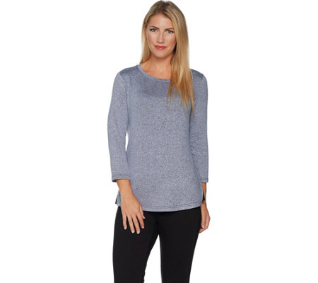 H by Halston Super Soft Knit 3/4 Sleeve Top