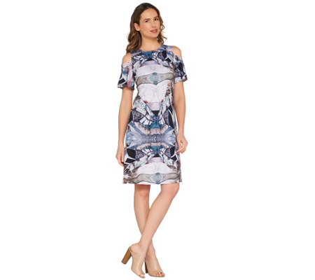 Attitudes by Renee Petite Como Jersey Printed Dress