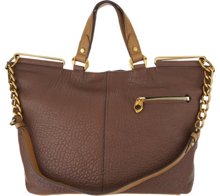 """As Is"" orYany Lamb Leather Convertible Tote Handbag- Evangelina"
