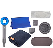 Dyson Supersonic Hair Dryer w/ AQUIS Towel Accessories - A341771