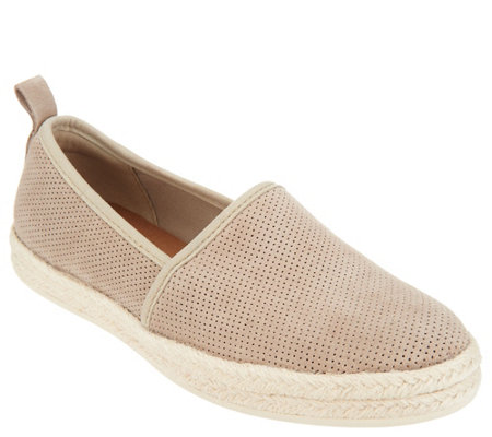 """As Is"" Clarks Leather or Suede Slip-on Espadrilles- Azella Revere"