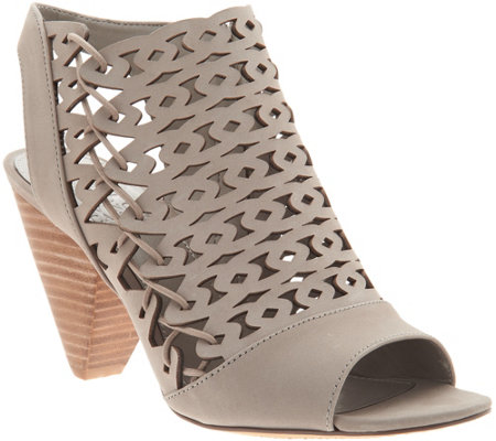 Vince Camuto Nubuck Cut-Out Heeled Sandals- Emberla
