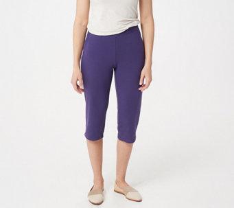 786bca81d65 Denim   Co. Active French Terry Slim Leg Capri Pants w Pockets - A351571