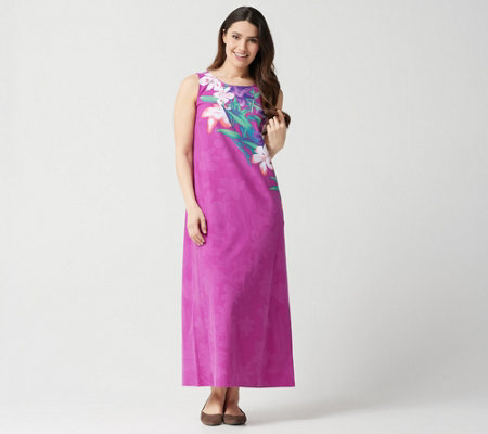 Quacker Factory Floral Printed Knit Maxi Dress