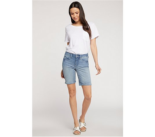 "NYDJ Ella 9"" Shorts with Side-Seam Slits"