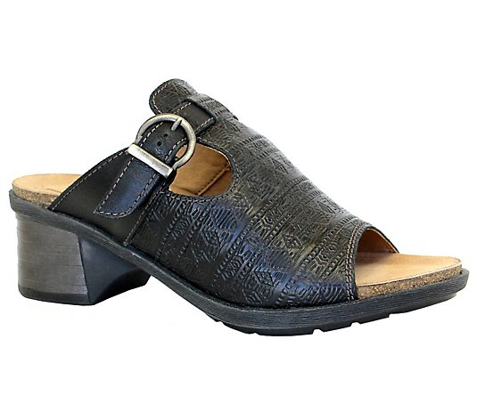Dromedaris Adjustable Leather Slip-On Sandals -Sharon