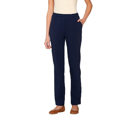 Linea Leisure by Louis Dell'Olio Petite Knit Pull-On Pants