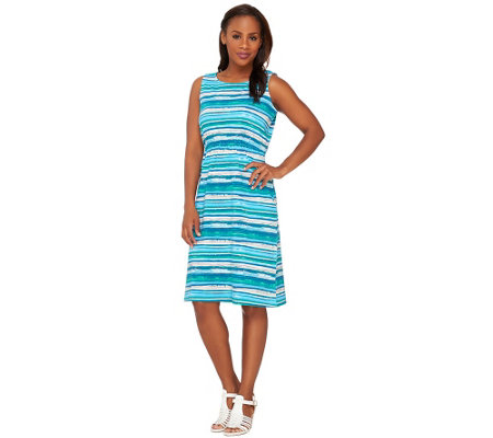 Liz Claiborne New York Sleeveless Striped Dress