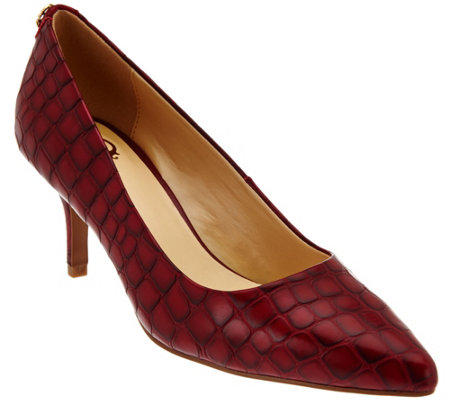 C. Wonder Croco Embossed Leather Pumps - Tara
