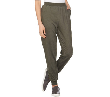 Lisa Rinna Collection Pull-On Knit Jogger Pants with Pockets