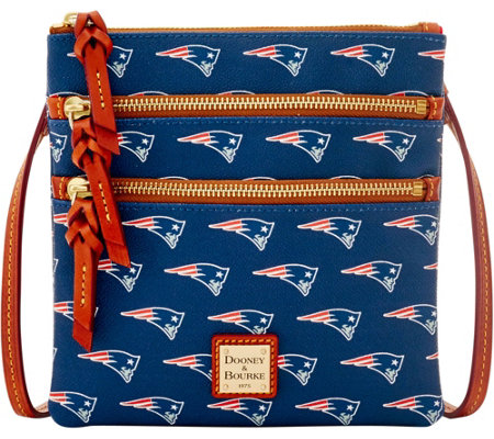 Dooney & Bourke NFL Patriots Triple Zip Crossbody