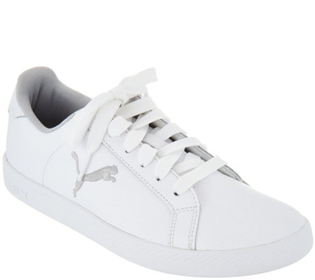 PUMA Leather Lace-up Sneakers - Smash Cat