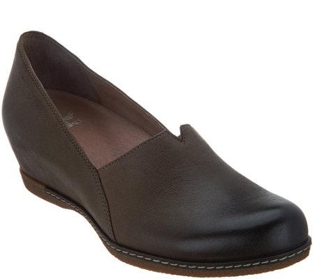 59735cbdc97 Dansko Nubuck Leather Closed Toe Wedges - Liliana - Page 1 — QVC.com