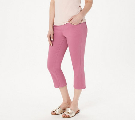 Denim & Co. Color Soft Stretch Smooth Waist Crop Jeans