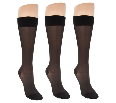 Legacy Sheer Graduation Compression Socks Set of 3