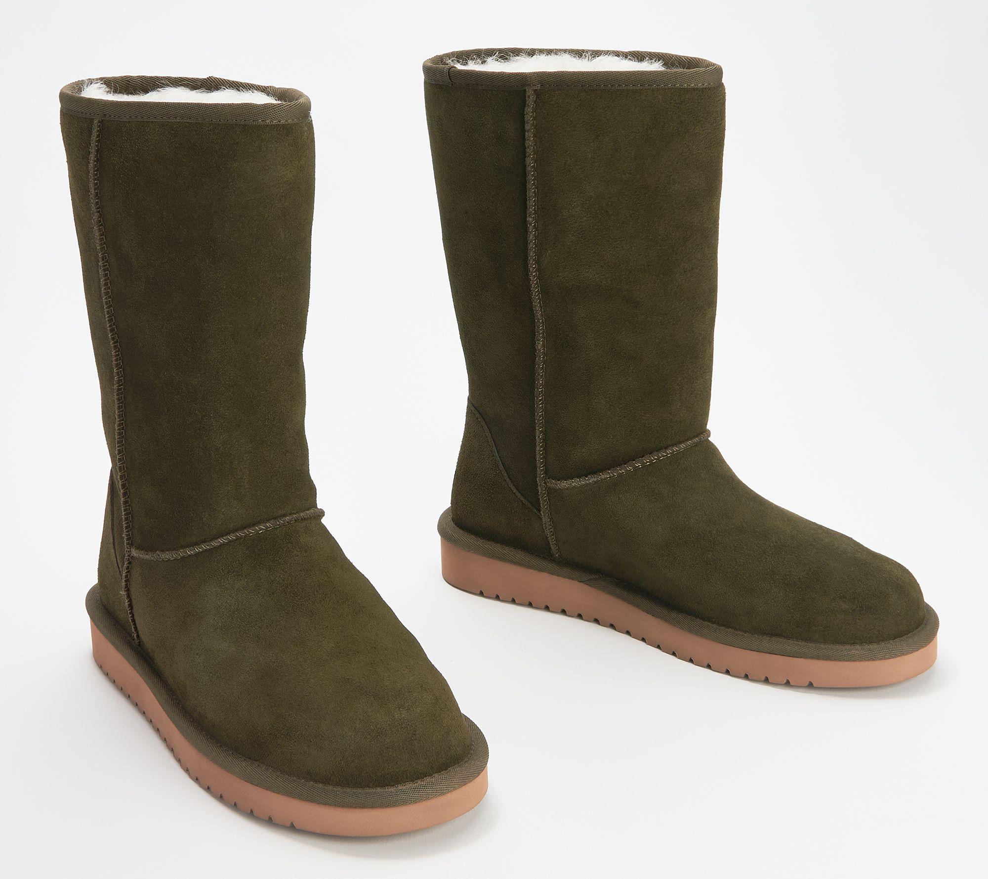 Koolaburra by UGG Suede Tall Boots - Koola - QVC.com