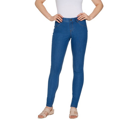"""As Is"" HUE Classic Stretch Denim Leggings"