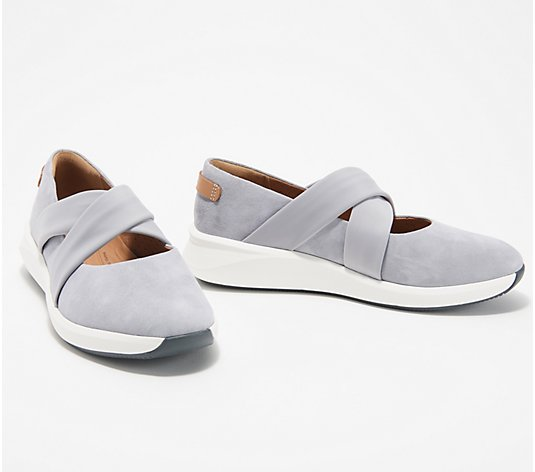 Clarks Unstructured Leather or Suede Slip-Ons - Un Rio Cross