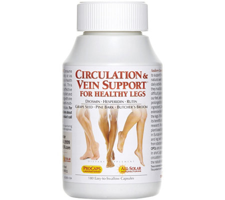 Andrew Lessman Circulation and Vein Support 180 Capsules