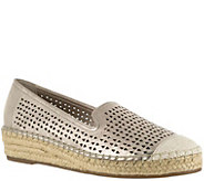 Bella Vita Leather Perforated Espadrilles - Channing - A357172