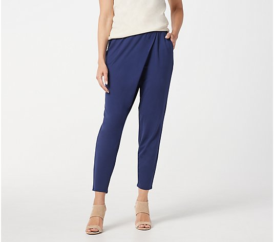 Lisa Rinna Collection Wrap-Front Pull-On Pants