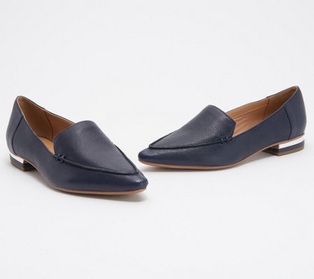 Franco Sarto Leather Pointy Toe Loafers - Starland