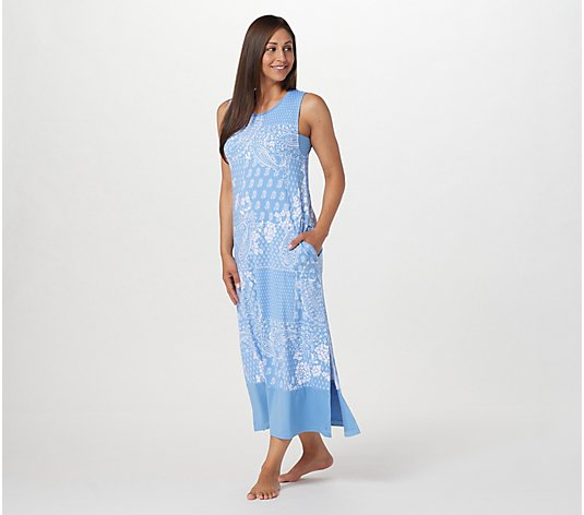 Cuddl Duds Flexwear Wide Shoulder Maxi Dress