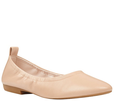 Nine West Leather Flats - Greige