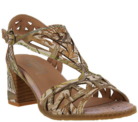 L Artiste By Spring Step Leather Ankle Strapsandals Calpie