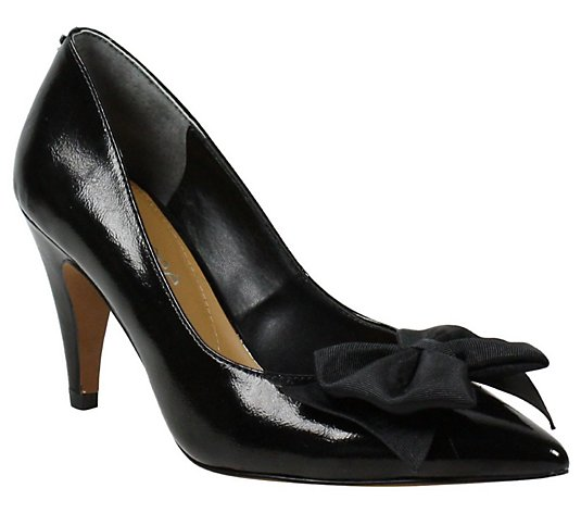 J. Renee Pointed-Toe Pumps with Bow Detail - Id  rease