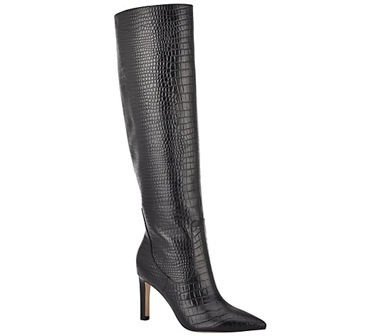 Nine West Pointy Toe Leather Boots - Maxim