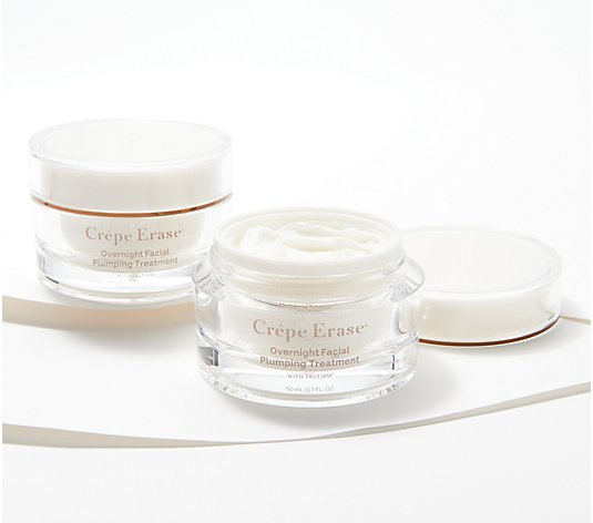 Crepe Erase Set of 2 Night Facial Plumping Treatments Auto-Delivery