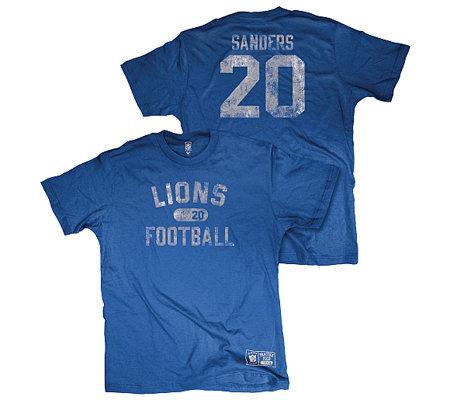 6ca4b0874 NFL Detroit Lions Barry Sanders Youth Retired Legend T-Shirt — QVC.com