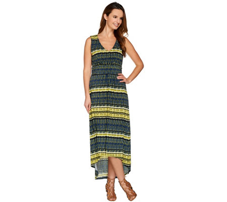 Kelly by Clinton Kelly Petite V-Neck Dress with Hi-Low Hem