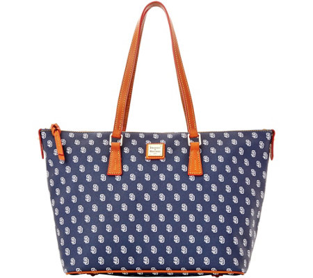Dooney & Bourke MLB Padres Zip Top Shopper