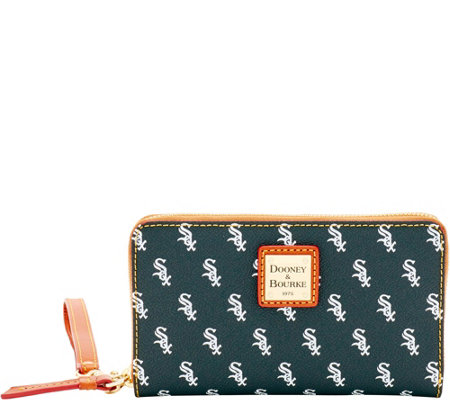 Dooney & Bourke MLB White Sox Zip Around Phone Wristlet