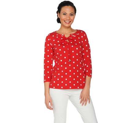 Susan Graver Weekend Printed Stretch Cotton Modal Top