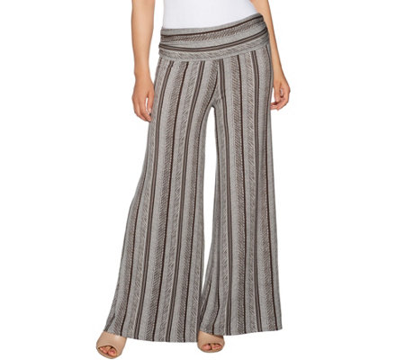 Lisa Rinna Collection Regular Printed Palazzo Pants