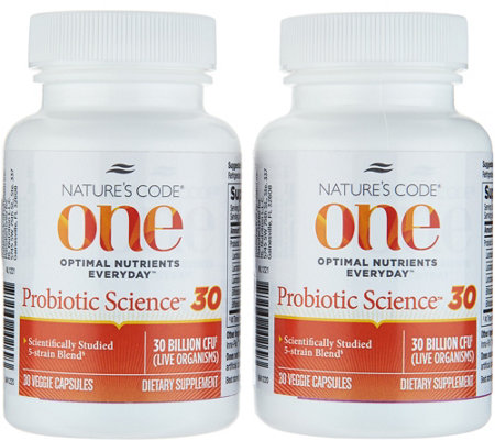 Nature's Code ONE Probiotic 30 Billion CFU 60-day Supply