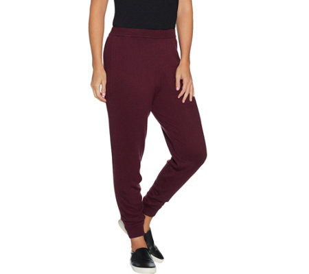 H by Halston Petite Sweater Knit Jogger Pants